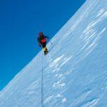 Antarktida - strmý výstup na Shin